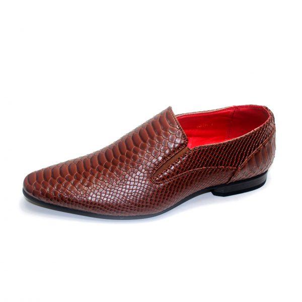 Mens Smart Office Work Slip On Snake Skin Pattern Dress Buckle Shoes Size UK