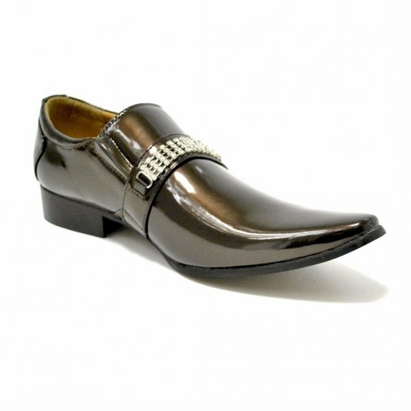 New Mens Italian Style Wedding Metal Toe Party Dance Slip On Shoes Size 6-12