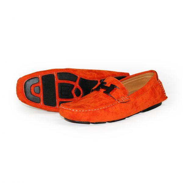 Loafers Shoes for Men 3811 Orange-11