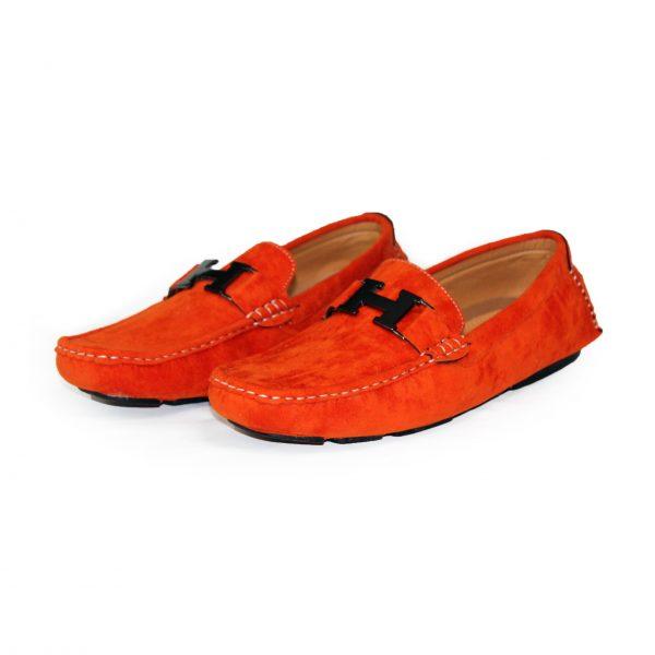 Loafers Shoes for Men 3811 Orange-12
