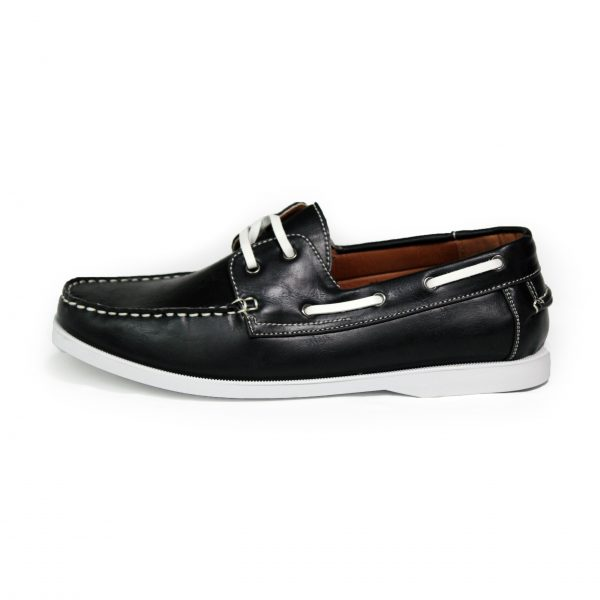 Leather Loafer Shoes 7273-1 Black-14