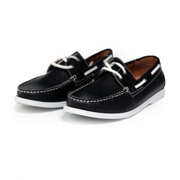 Leather Loafer Shoes 7273-1 Black-15