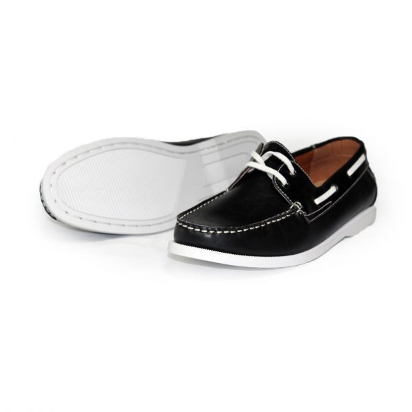 Leather Loafer Shoes 7273-1 Black-16