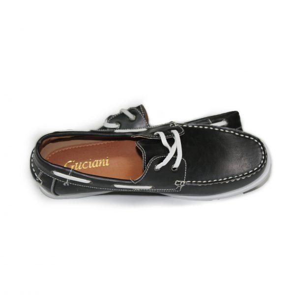 Leather Loafer Shoes 7273-1 Black-17