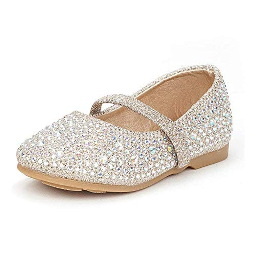 DREAM PAIRS Girls Ballet Dress Shoes Mary Jane Flats