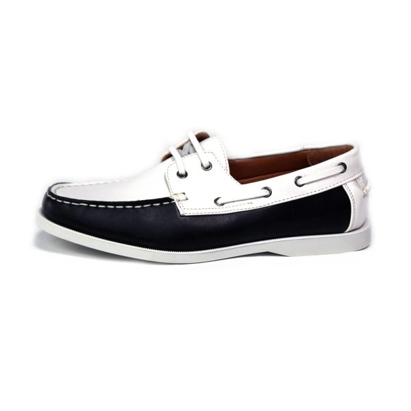MENS SMART CASUAL SUMMER LACE UP BOAT & DECK SHOES LOAFERS FAUX NU-BUCK LEATHER LOAFER SHOES 7273-1 BLUE/WHITE-04