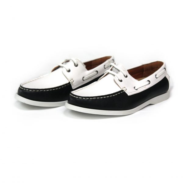 MENS SMART CASUAL SUMMER LACE UP BOAT & DECK SHOES LOAFERS FAUX NU-BUCK LEATHER LOAFER SHOES 7273-1 BLUE/WHITE-01