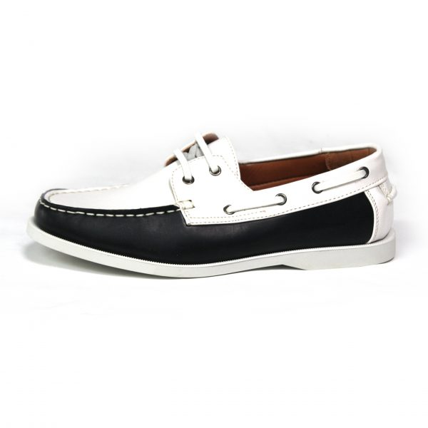 MENS SMART CASUAL SUMMER LACE UP BOAT & DECK SHOES LOAFERS FAUX NU-BUCK LEATHER LOAFER SHOES 7273-1 BLUE/WHITE-02