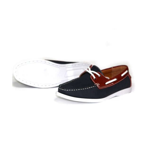 Mens Smart Casual Summer Lace Up Boat & Deck Shoes Loafers Faux Nu-buck Leather Loafer Shoes Guciani-Black/Brown-01