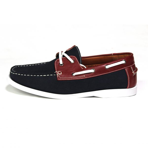 Mens Smart Casual Summer Lace Up Boat & Deck Shoes Loafers Faux Nu-buck Leather Loafer Shoes Guciani-Black/Brown-03